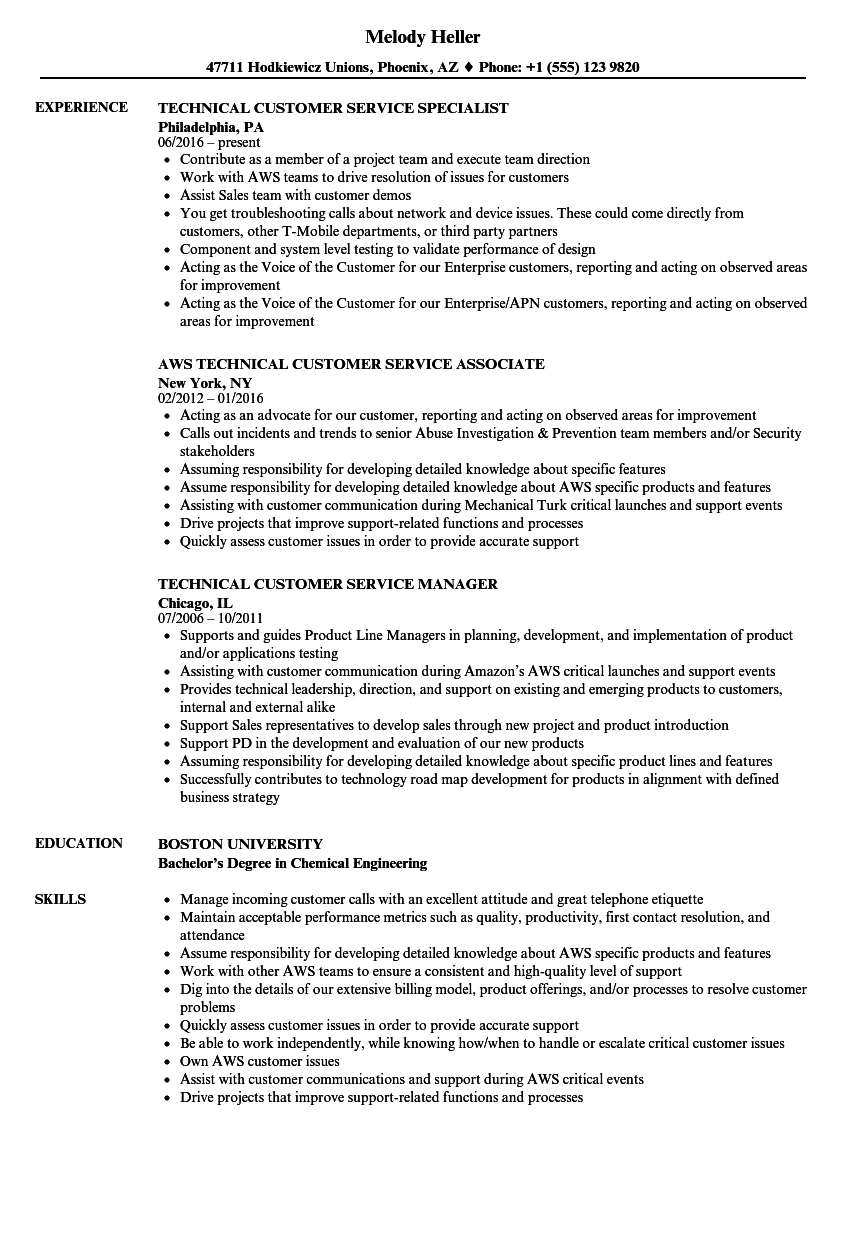 download technical customer service resume sample as image file - Customer Experience Associate Sample Resume
