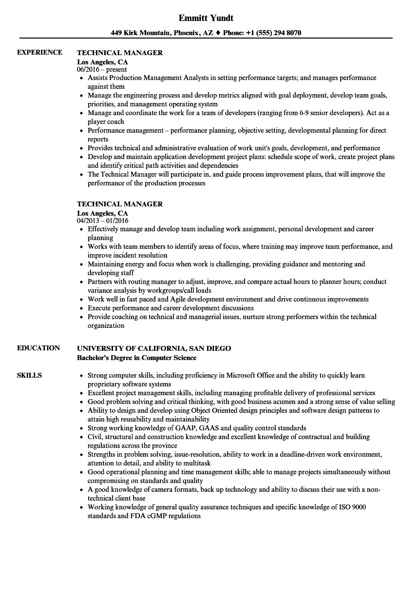 Technical manager resume samples velvet jobs download technical manager resume sample as image file yelopaper Images
