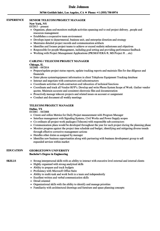 14 fresh project manager sample resume resume sample