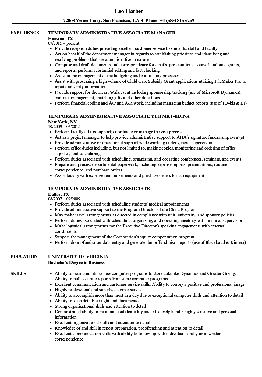 Excellent Example Of A Temporary Worker Resume Photos Example