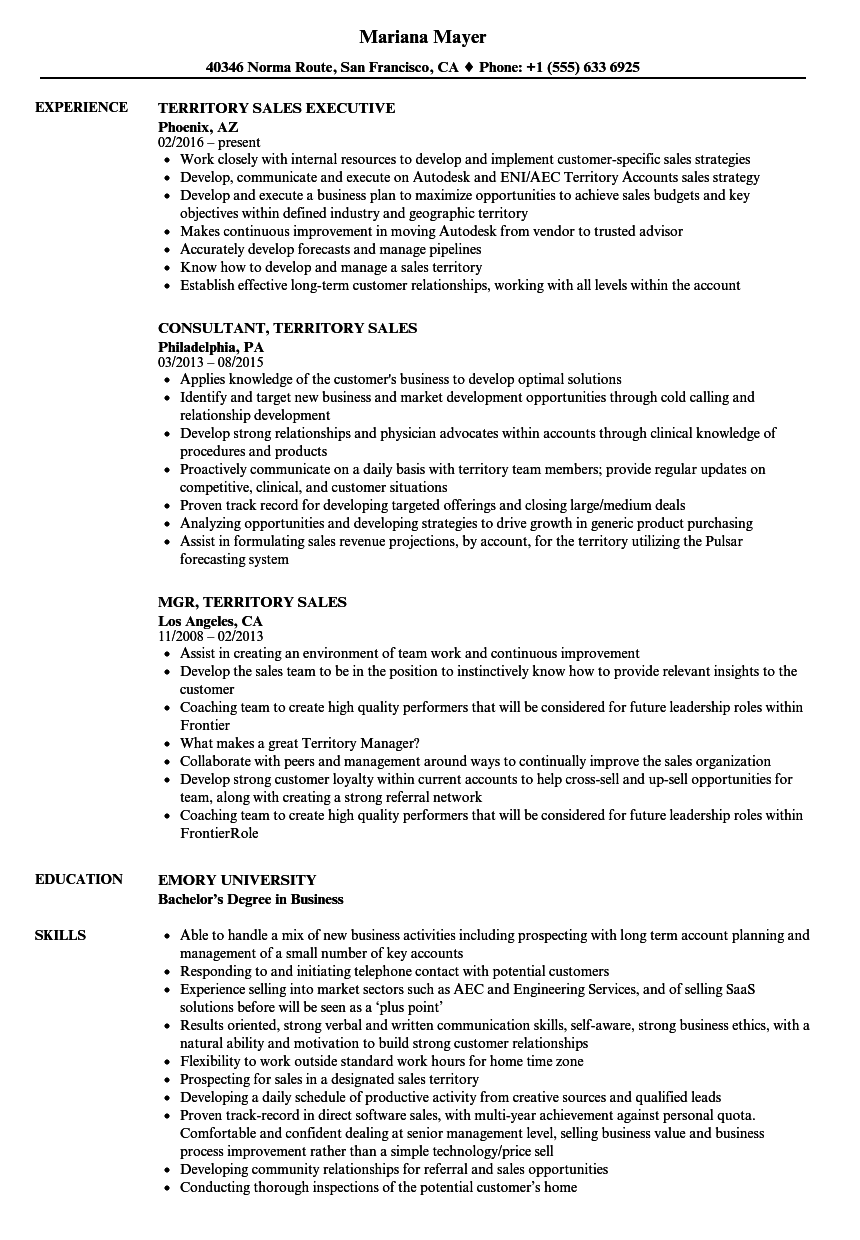 route sales manager resume