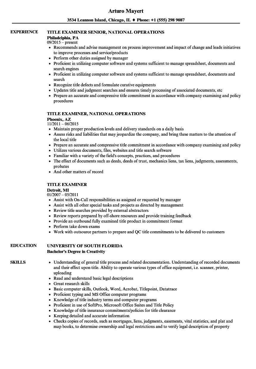 resume title