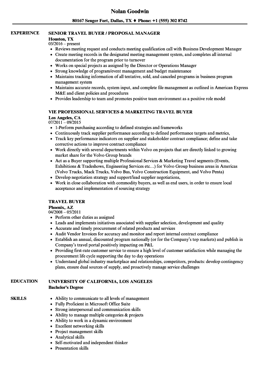senior buyer resume procurement resume sle procurement