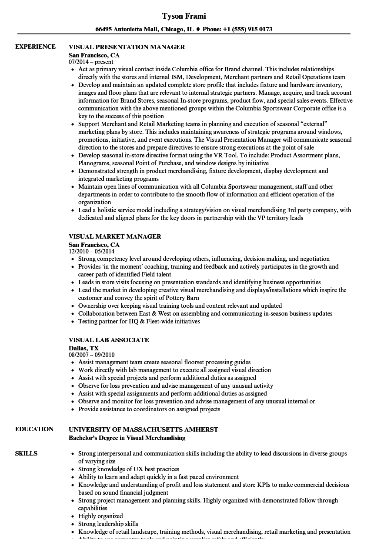 Visual Resume Samples Velvet Jobs