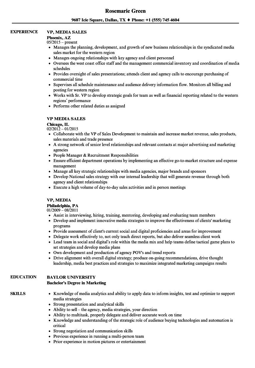 remarkable resume examples for media jobs with social media