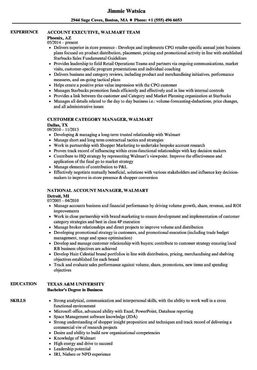 Walmart Resume Samples Velvet Jobs